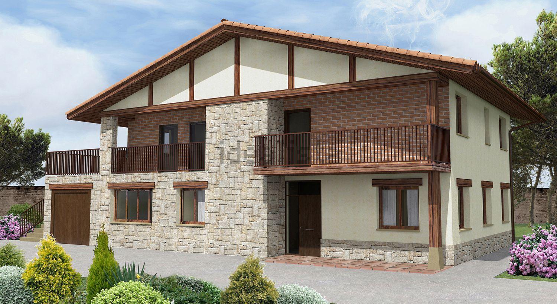 Casas ladrillo rustico piedra mitula pisos proyectos for Fachadas rusticas de piedra y ladrillo