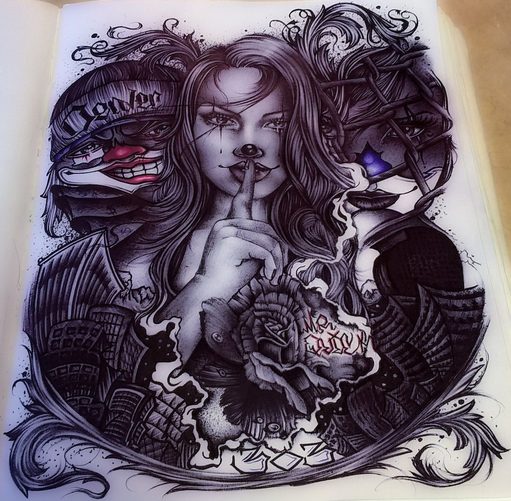 Pin Angelita Coronado Drawings T Chicano Art