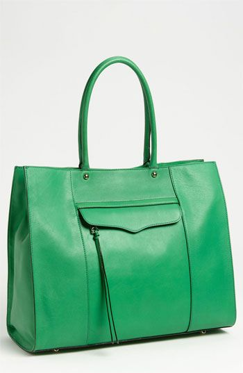 Rebecca Minkoff 'M.A.B.' Leather Tote Jungle Green - best ...