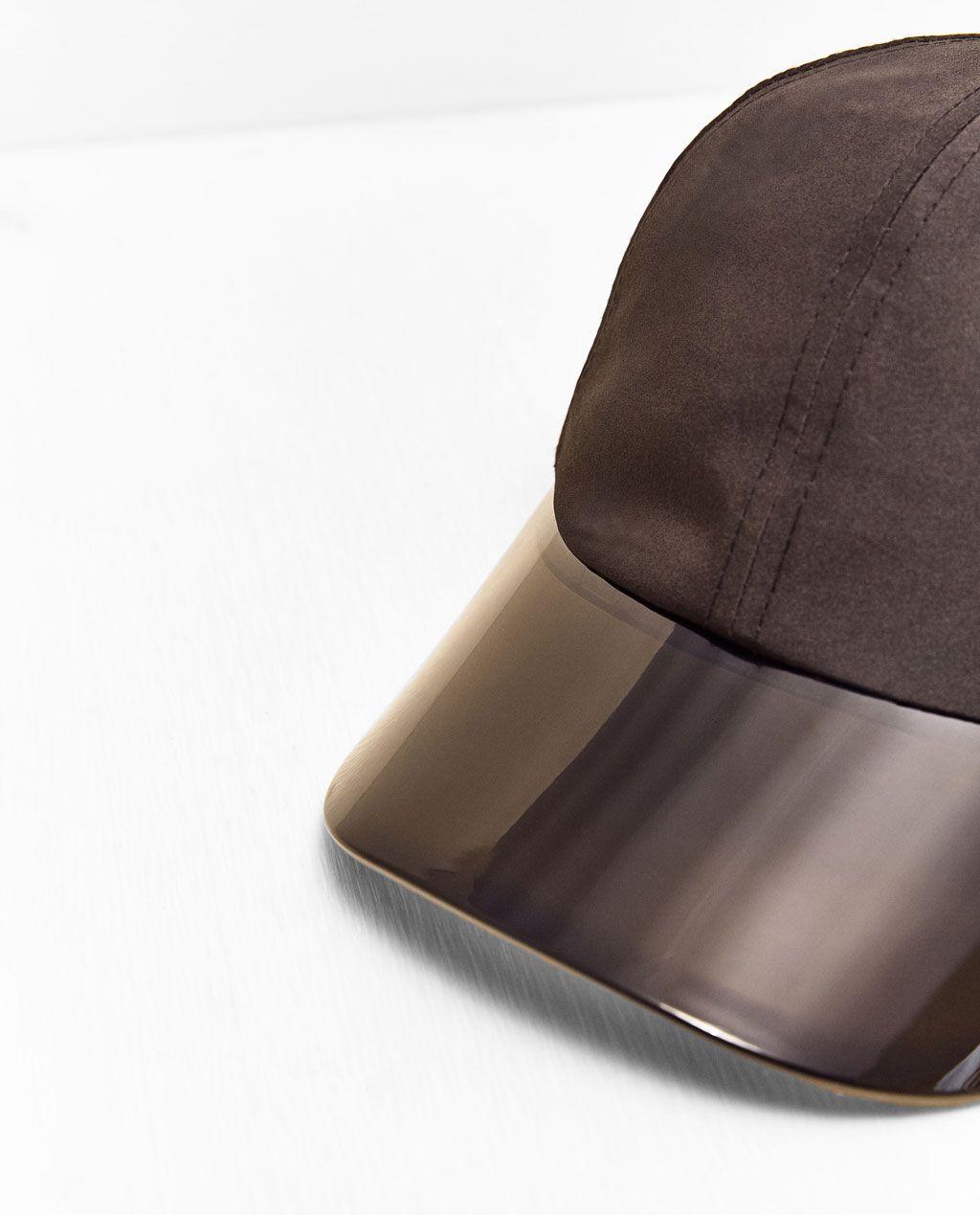 5dd3ab53 ZARA - WOMAN - SEMI-TRANSPARENT SPORTY CAP WITH VISOR | hats | Zara ...