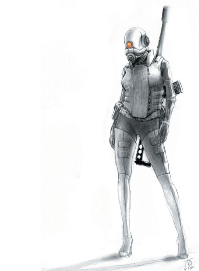 Anatomy Of A Combine : Half life illustration video games pinterest