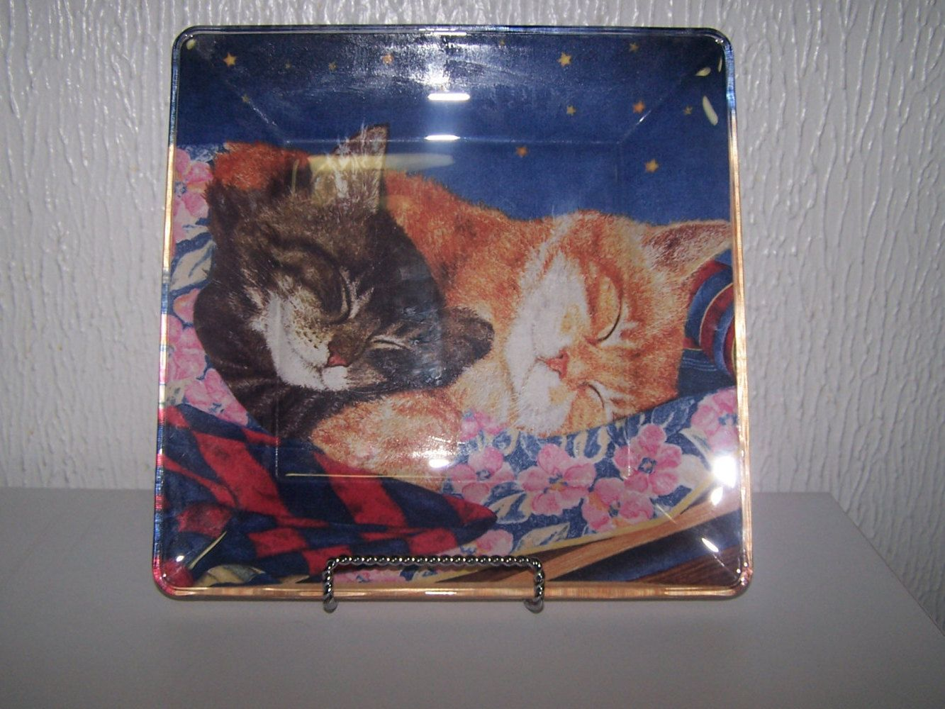 Decorative cat plate, Unique cat gift, Special gift for cat lovers ...