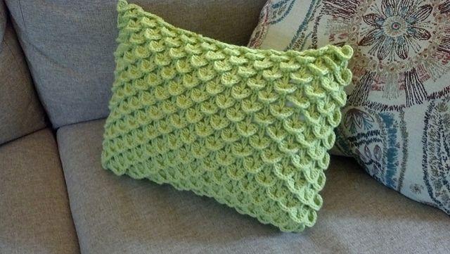Crocodile Stitch Pillow Crochet Pillow Pattern Crochet Pillow Cover Crochet Cushion Cover