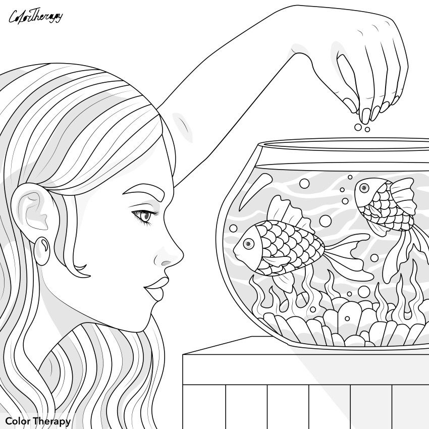 Pin By Alexandra On Color Therapy Before After In 2020 Grownup Coloring Coloring Pages For Girls Coloring Pages