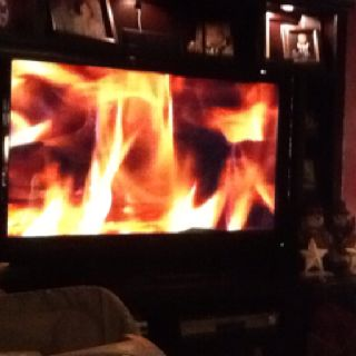 If you have AT&T uverse this burning fireplace is FREE on demand ...