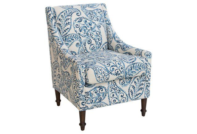 Holmes Accent Chair Blue Blue Accent Chairs Accent