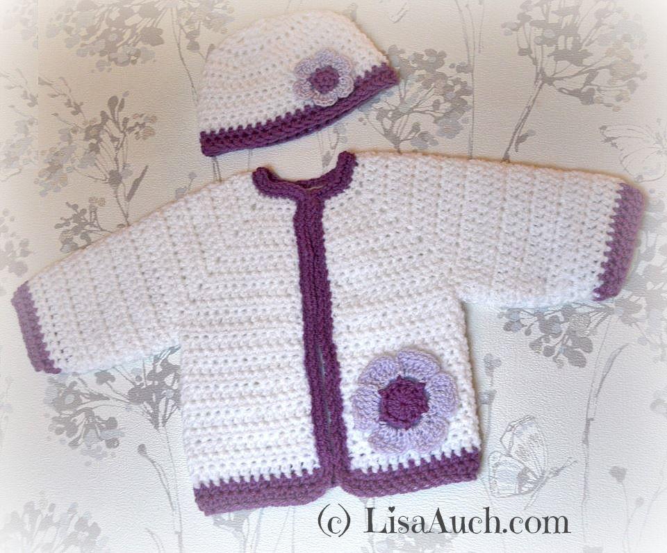 Free Crochet Pattern Baby Cardigan | Pinterest | die Kleinen