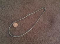 Sterling Silver .925 Necklace  Excellent Condition  Handwoven link necklace  Intricate and heavy  Cl $42.00