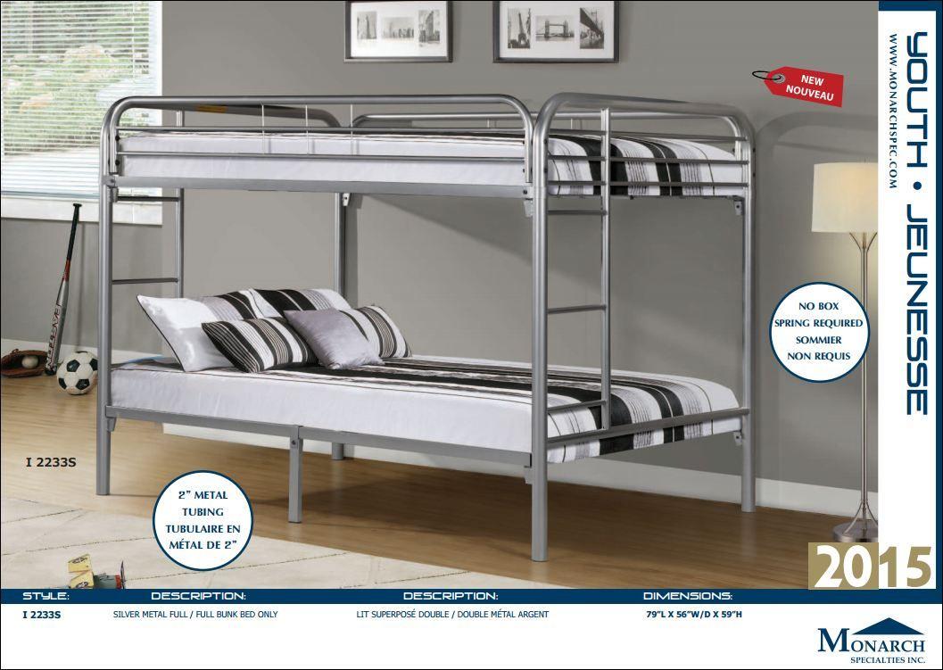 Monarch I 2233s Lit A Deux Etages Divan Montreal Lit Superpose Simple Futon Meubles Loren Monarch Monarch I 2233s Lits Simple Bed Bunk Beds Home