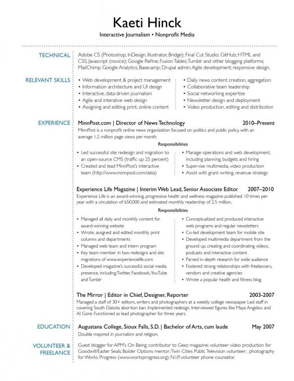 Interests On Resume Examples Pinterest Resume examples, Sample