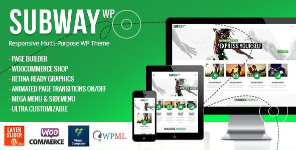 Subway - Responsive Multi-Purpose WordPress Theme | Website ...