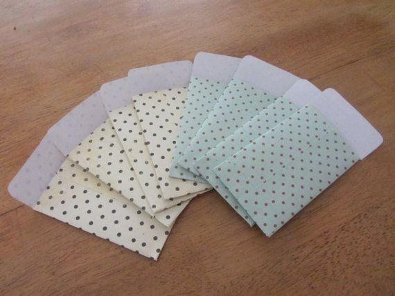 Polka Dot Mini Paper Envelopes by SonrisaSmiles on Etsy, $3.00