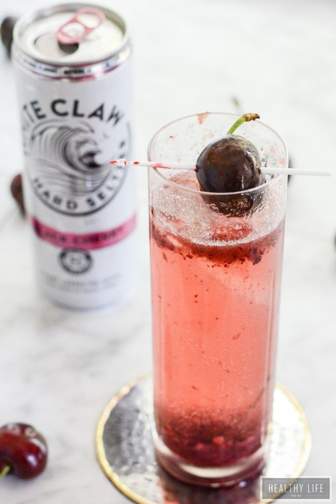 Black Cherry Seltzer a bit of fresh cherries, bubbles and vodka make for a…