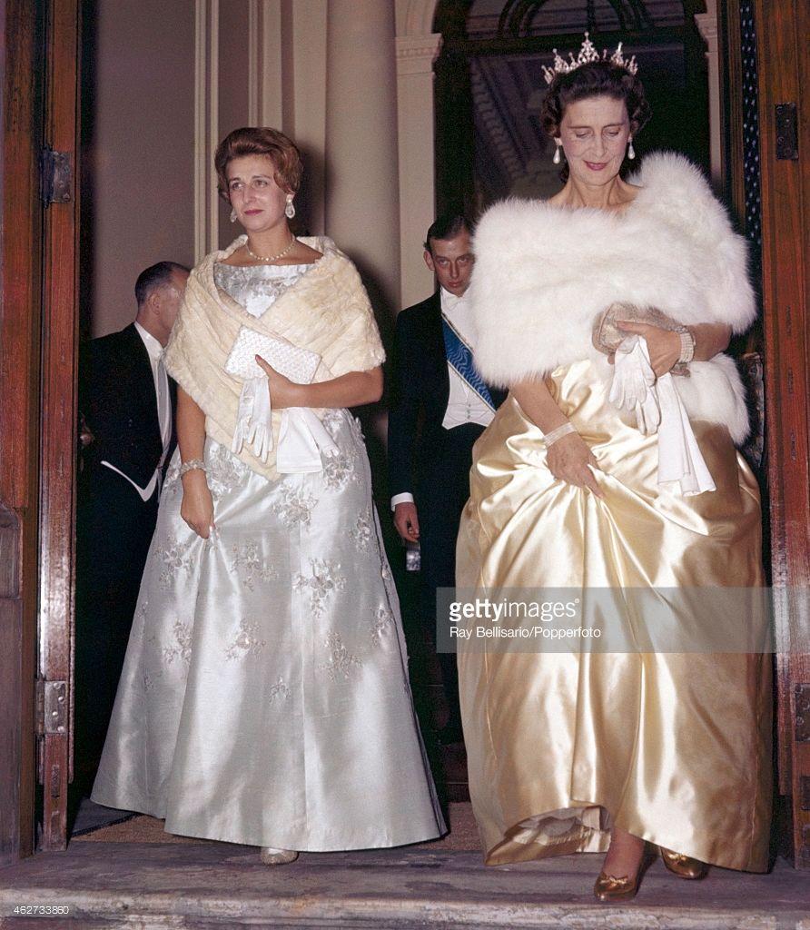 Princess Alexandra With Marina The Duchess Of Kent Leaving The Princess Alexandra Duchess Princess [ 1024 x 892 Pixel ]