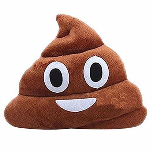 Froomer Stuffed Pillow Cushion Emoji Poop Shaped Smiley Face Doll Toy 1 PC emoji