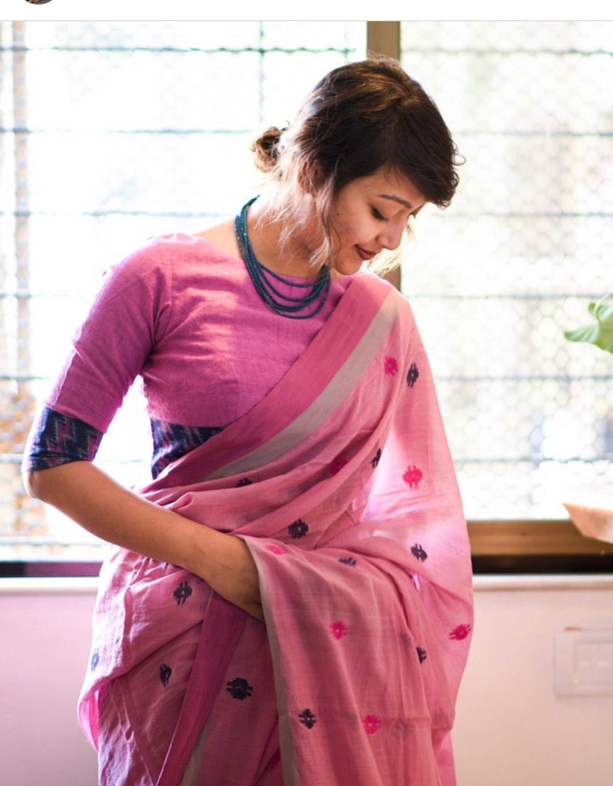 Saree blouse design for cotton saree pin by sridevi kode on sarees u cholis  pinterest  saree blouse