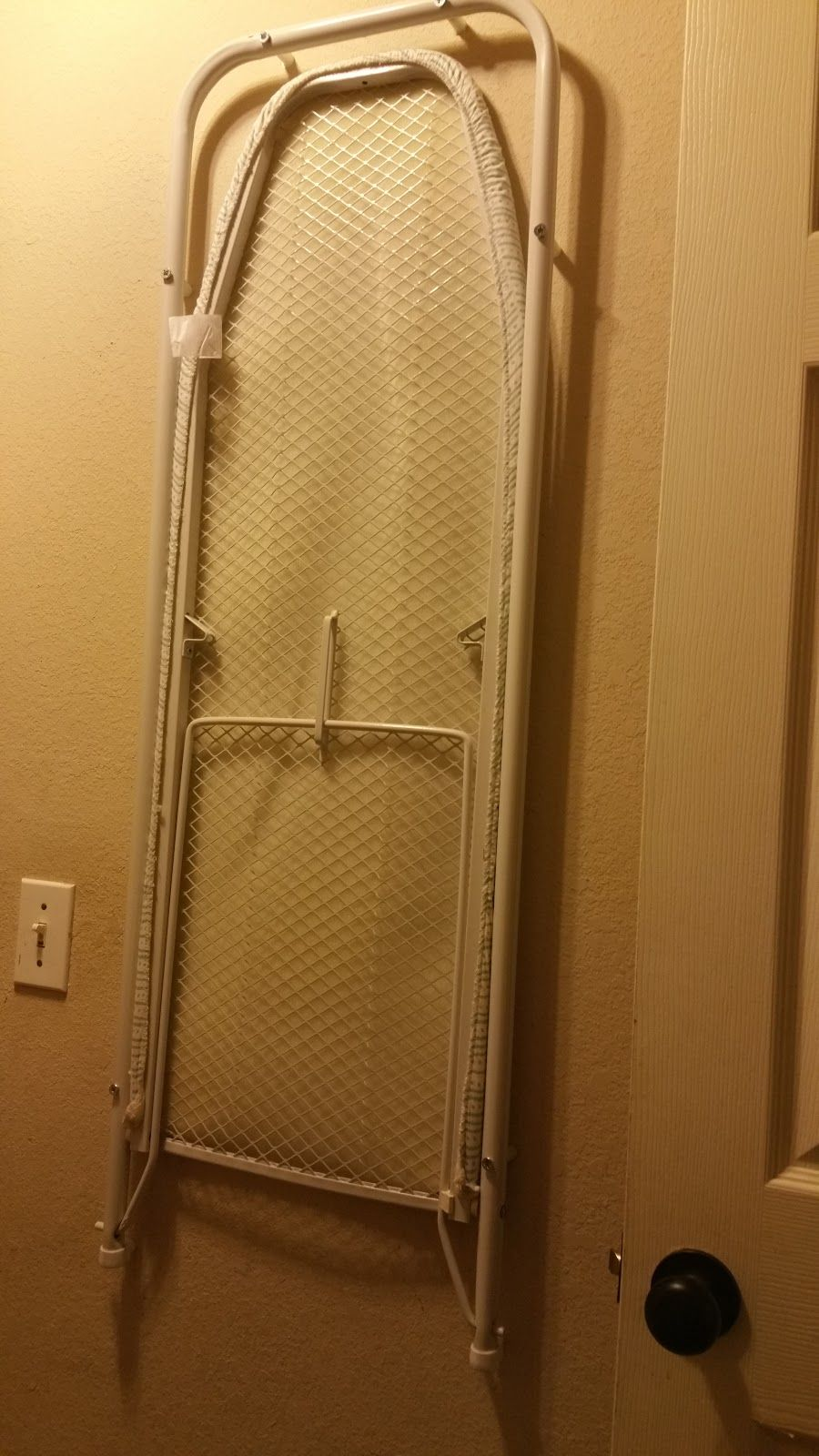 Diy Wall Mounted Ironing Board Estimated Time Of Project 30min 1hr Depending On Your Proficienc Wall Mounted Ironing Board Mounted Ironing Boards Diy Wall