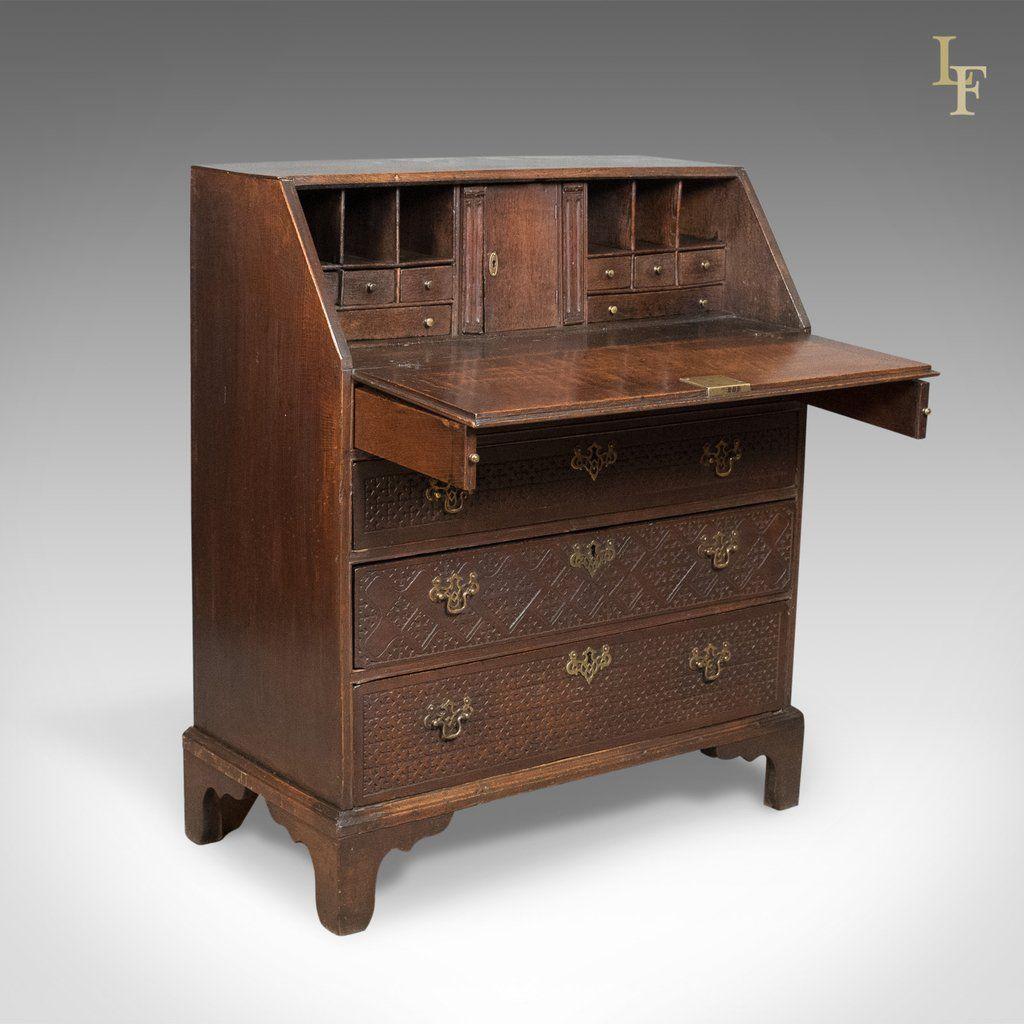 Georgian Antique Bureau English Oak