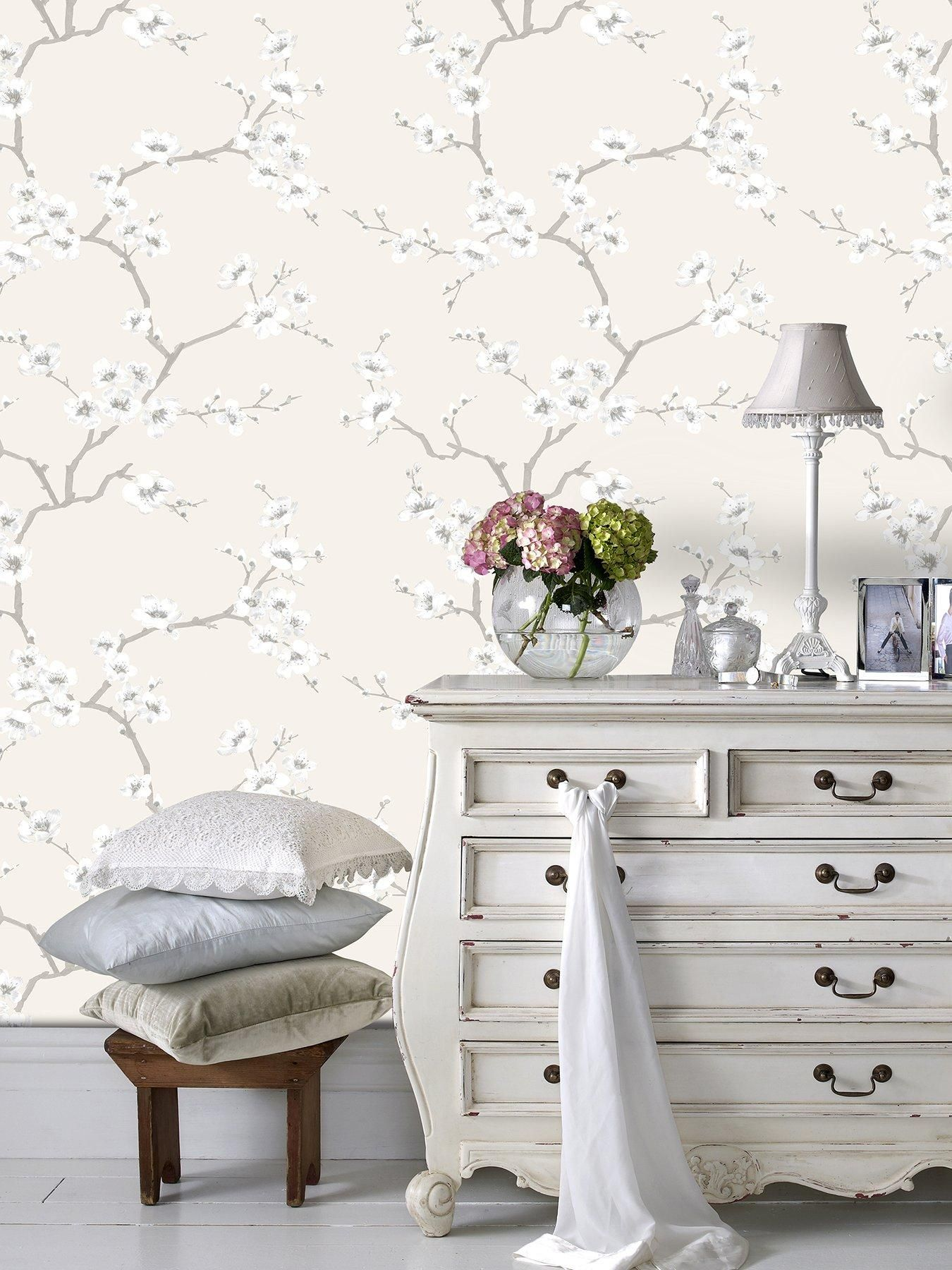 Fresco Apple Blossom Wallpaper Natural Natural in