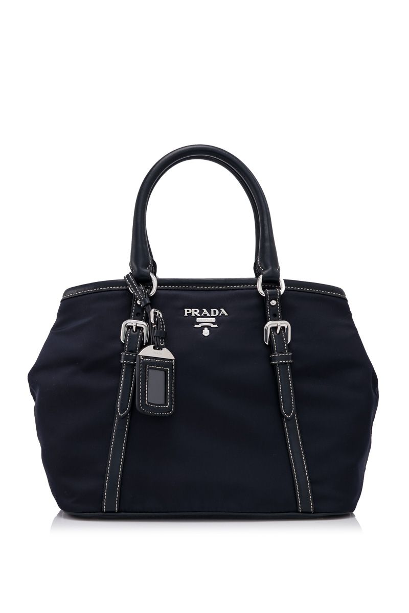 2805aede94 PRADA - Prada Tessuto Soft Calf Shopping Bag