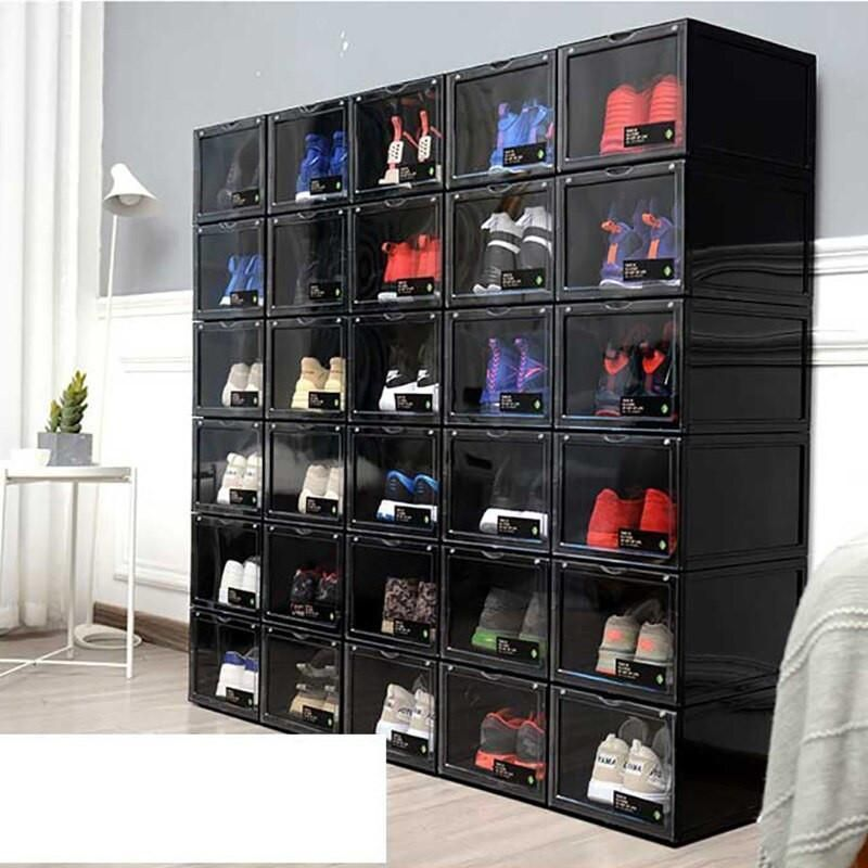 Are You Tired Of Wasting Time Digging Through Shoe Racks While Looking For Your Shoes Do You Want In In 2020 Stacking Storage Boxes Shoe Box Organizer Shoe Box Storage