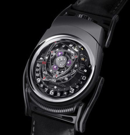 """URWERK and MB&F C3H5N309 Experiment ZR012 """"Nitro"""" Black Limited Edition 