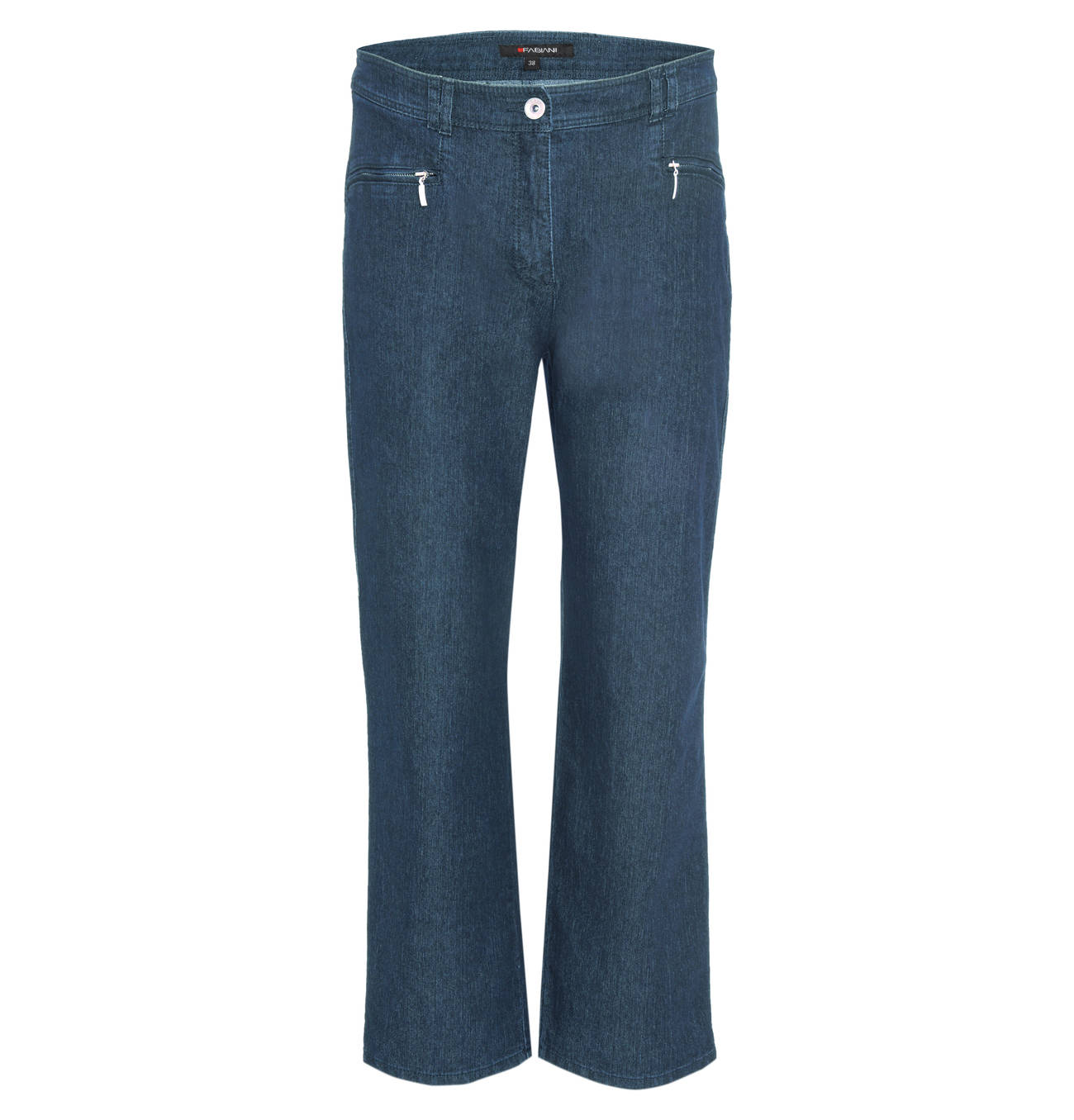 damen jeans straight schwarz high kurzgröße