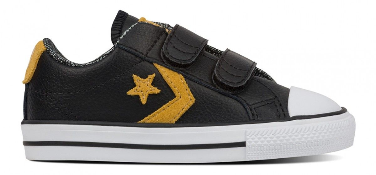 0e45b07ce64c Converse Toddler Star Player 2V Suede Low Top Black White Soba ...