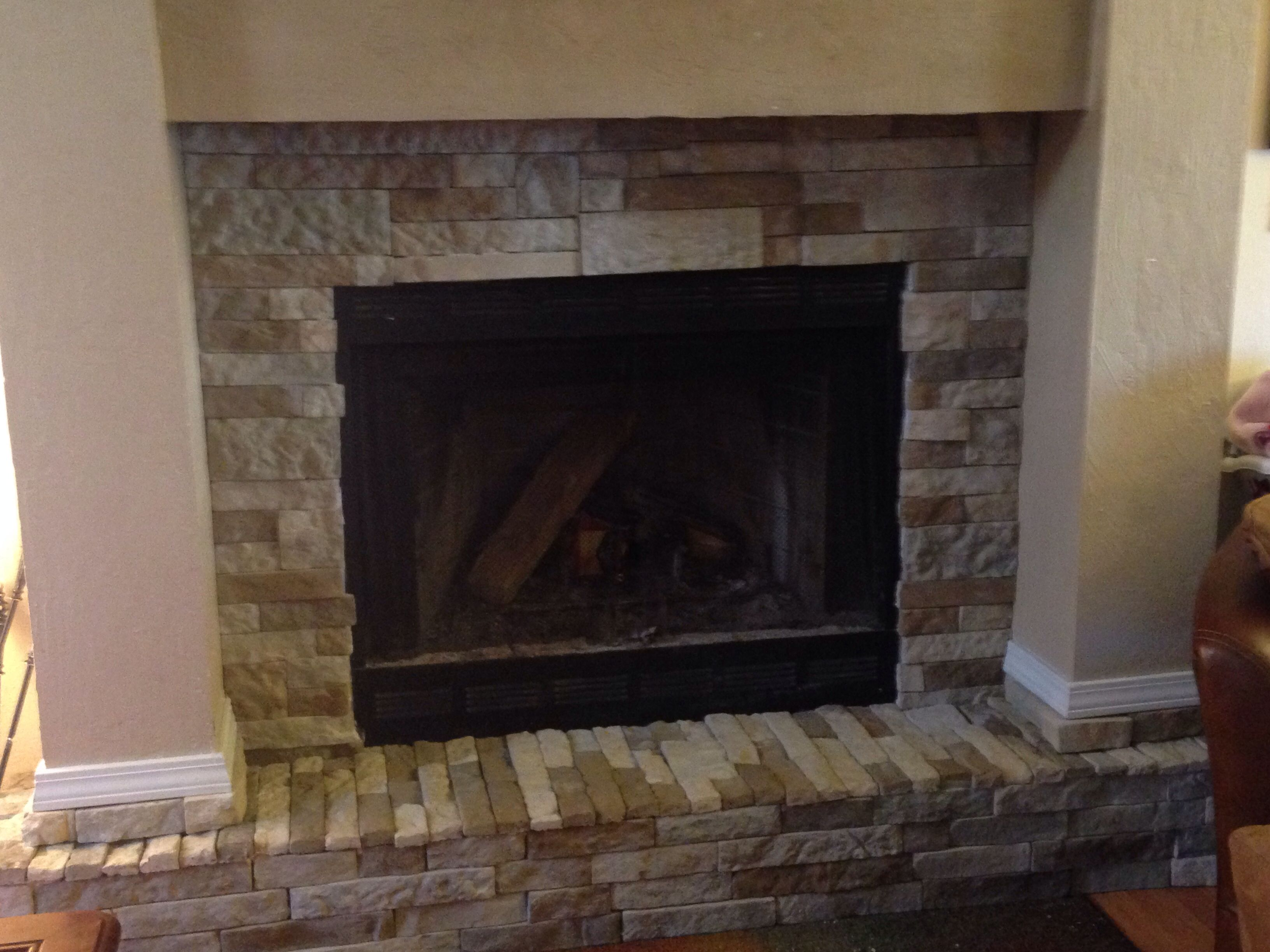 I always wanted to redo my fireplace thanks to air stone and some