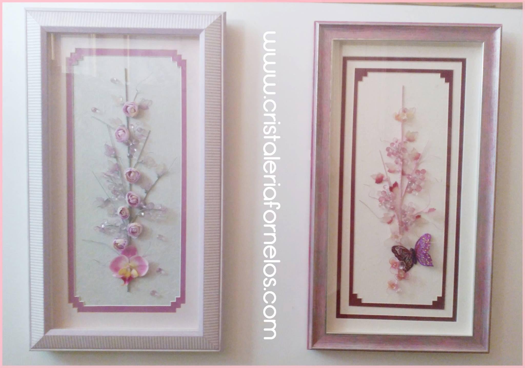 Empezamos la semana de color rosa con estos cuadros enmarcados ...