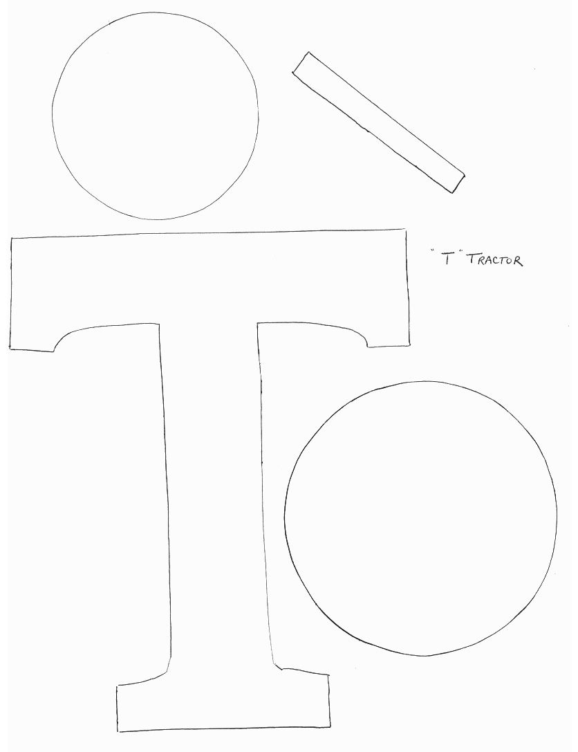 a31dab32779ccf980431b9334242cea1 T Letter Craft Tractor Template on preschool horse, for preschoolers, free printable alphabet,