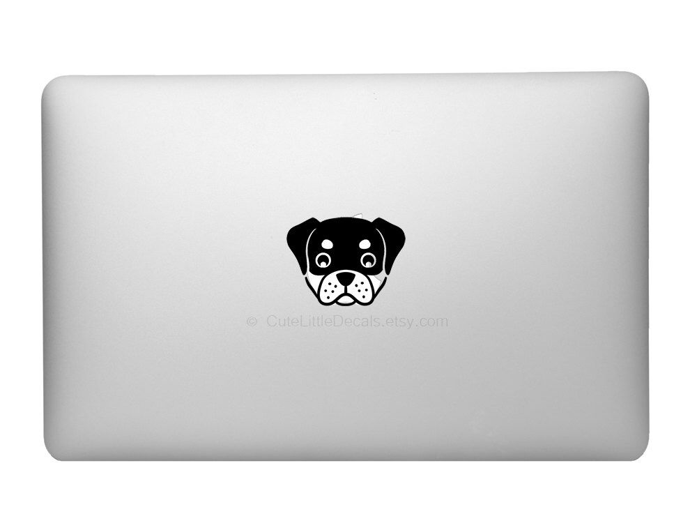 Items similar to rottweiler decal cute dog decals custom dog animal decal macbook decals laptop stickers car window wall decal made in usa on