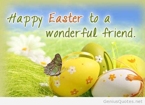 Happy Easter quote for friends | Blackened fists | Easter quotes