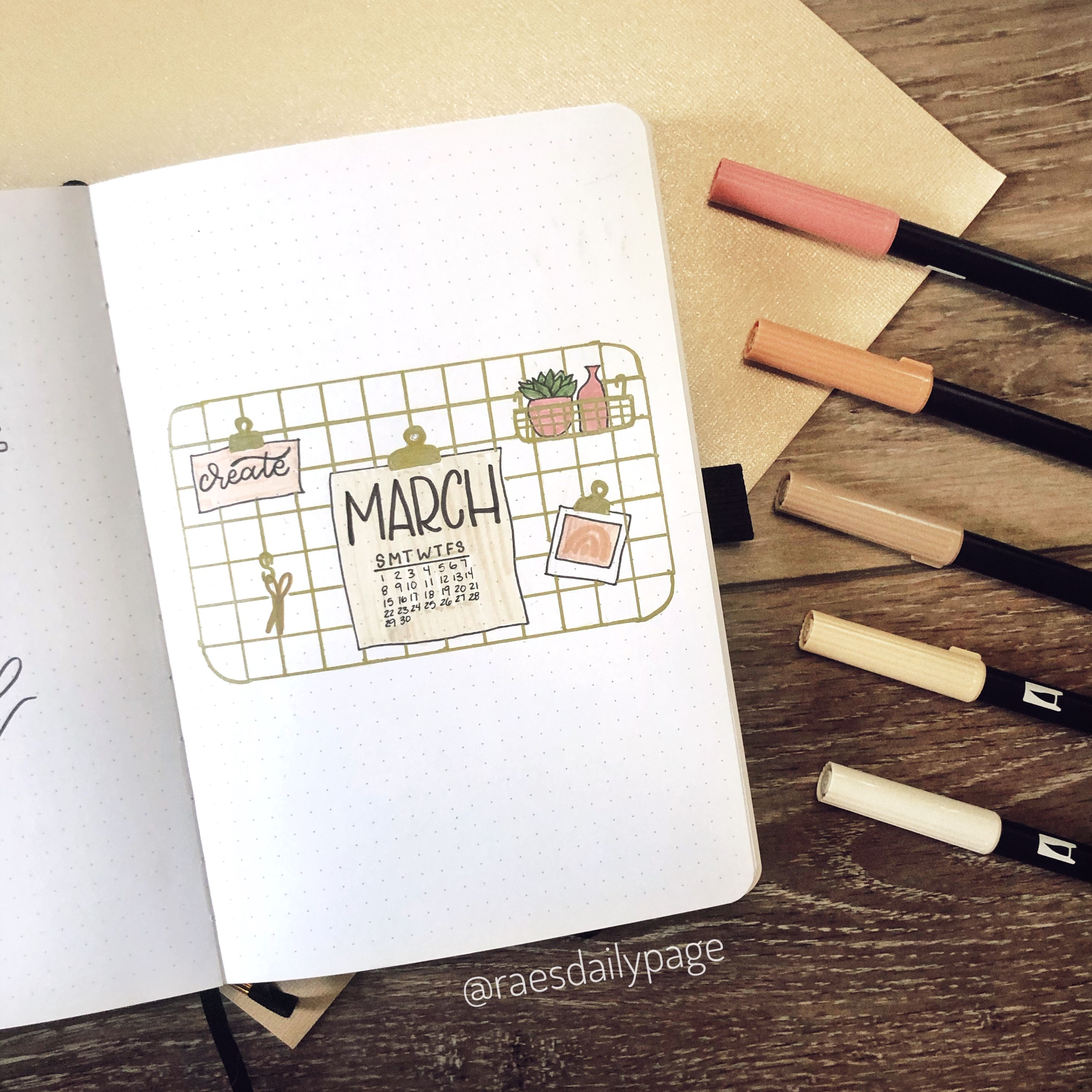 March Bullet Journal 2020 - Rae's Daily Page