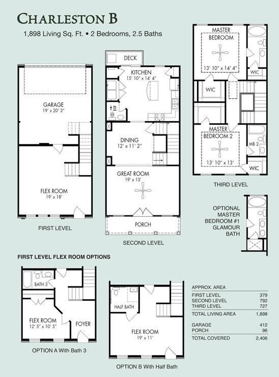 Elegant Charleston B, Live/Work | Floor Plans | Regent Homes