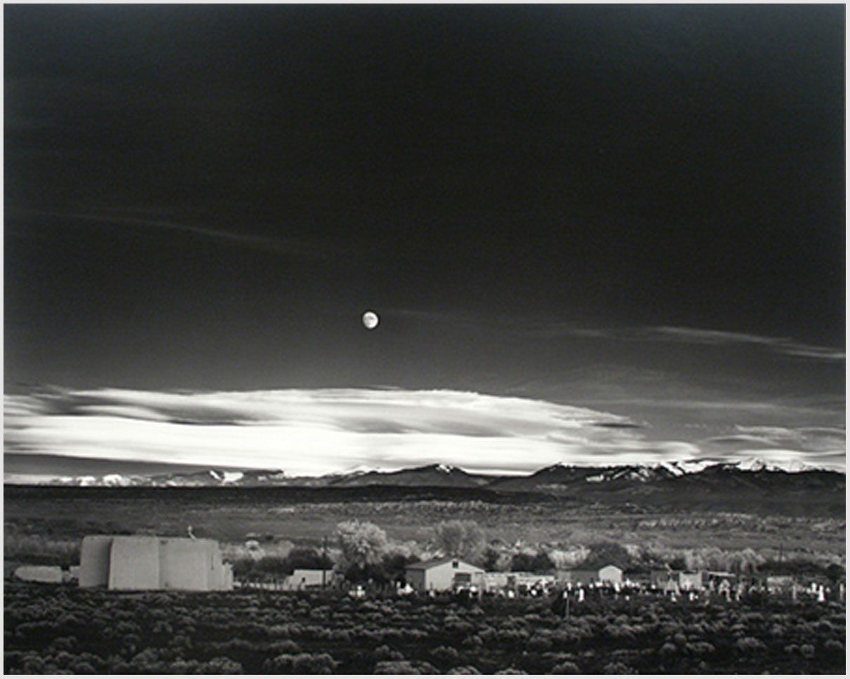 Ansel Adams Moonrise Over Hernandez New Mexico My Personal