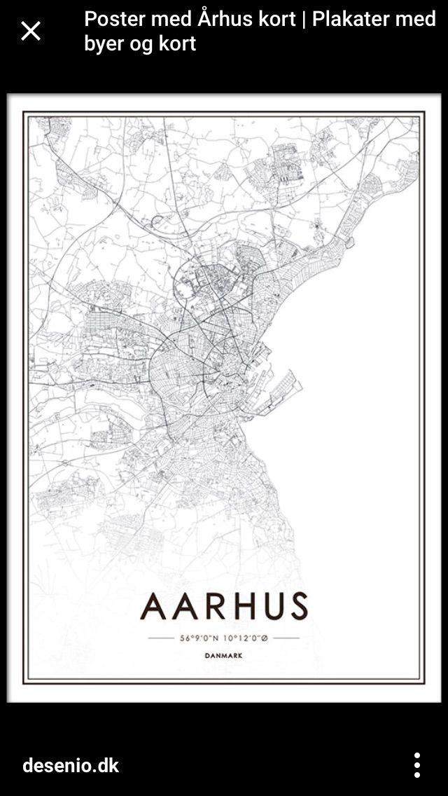 Pin By Johanne Kildeholm On Wall Decor World Map Poster Aarhus