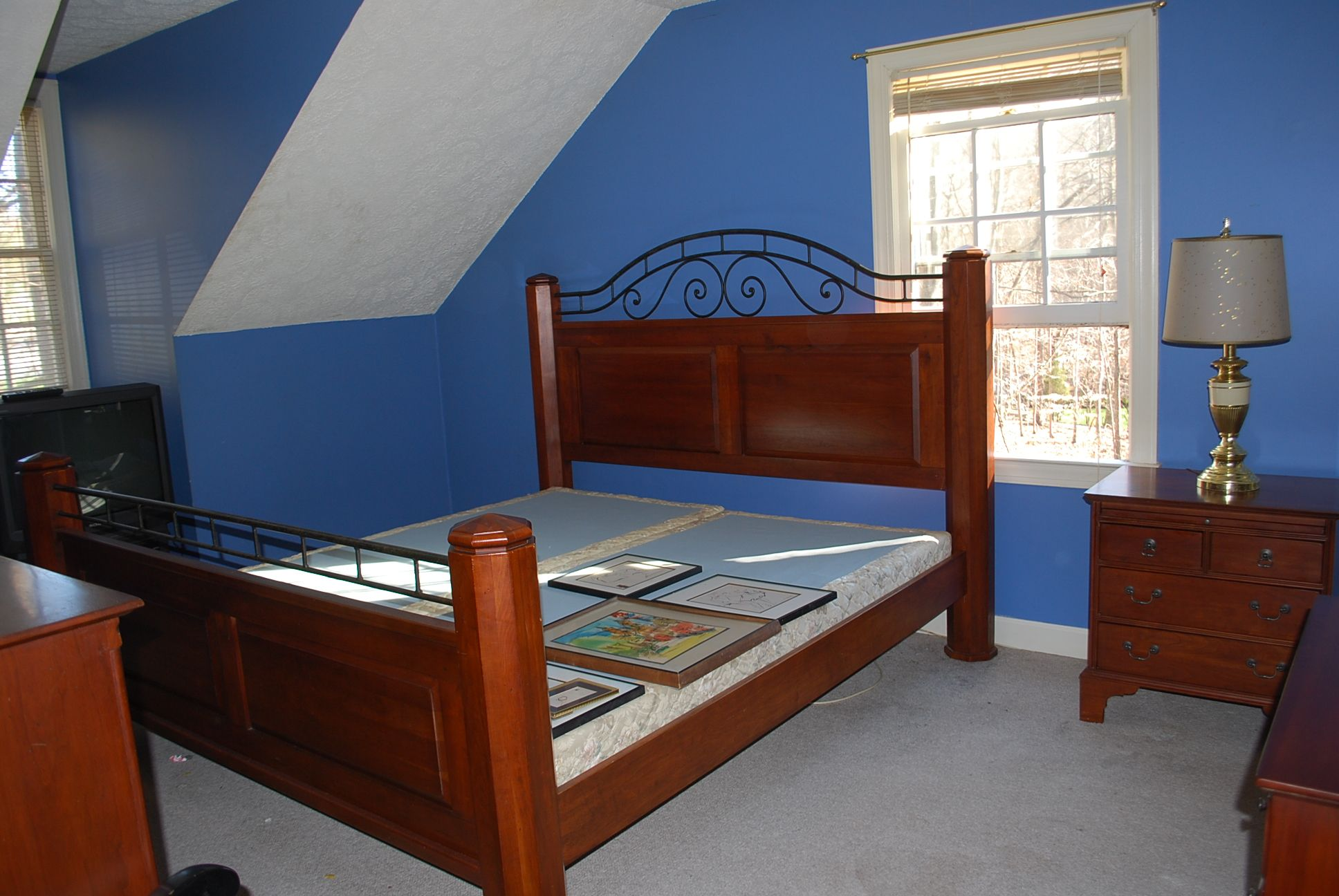 Bob Timberlake Cherry/Wrought Iron King Sized Bed with