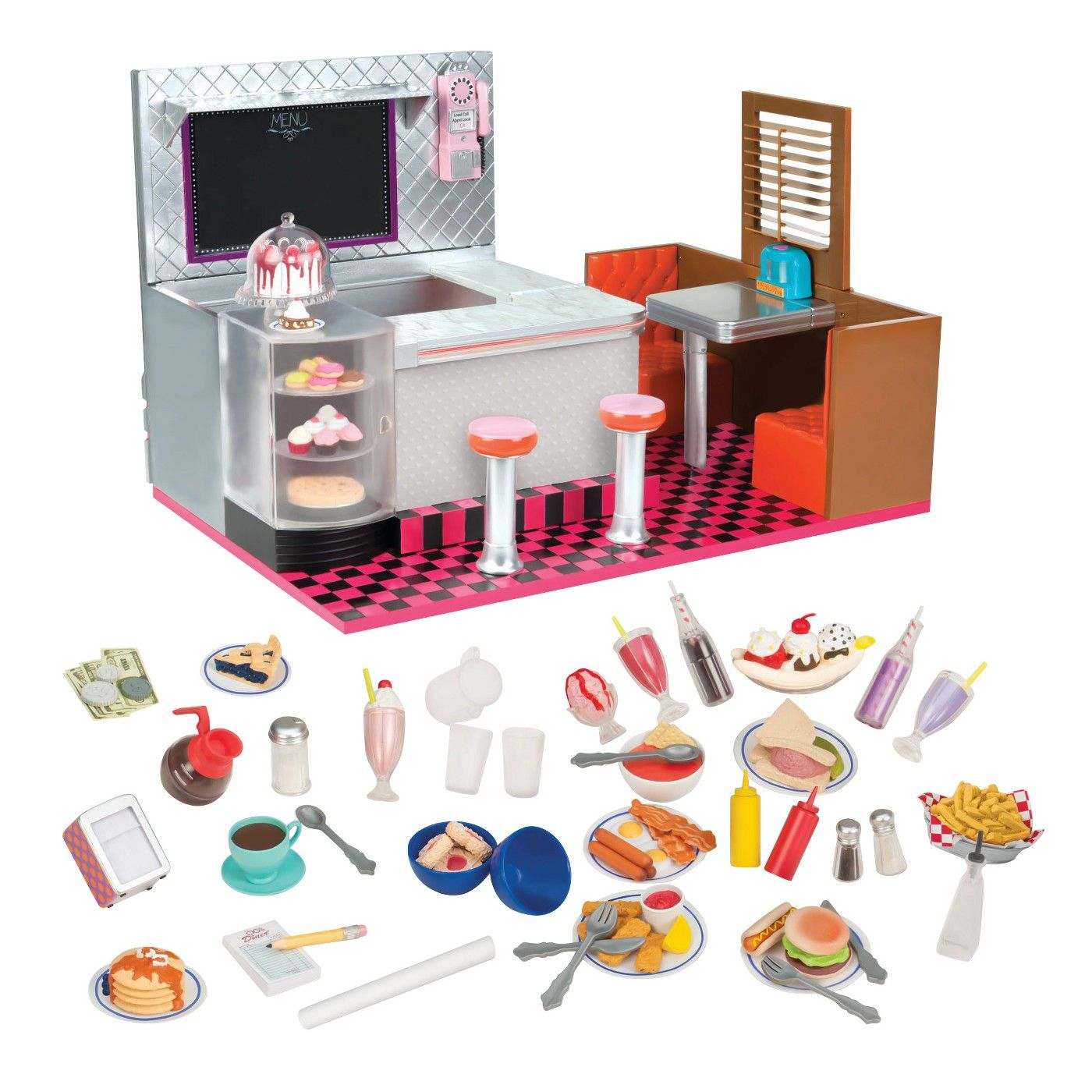 """18/"""" American Girl Doll Accessory  Hot Dog Cooker from Campus Snack Cart set"""