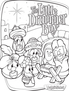Little Drummer Boy Party Coloring Pages For Boys Veggie Tales Christmas Christmas Coloring Pages