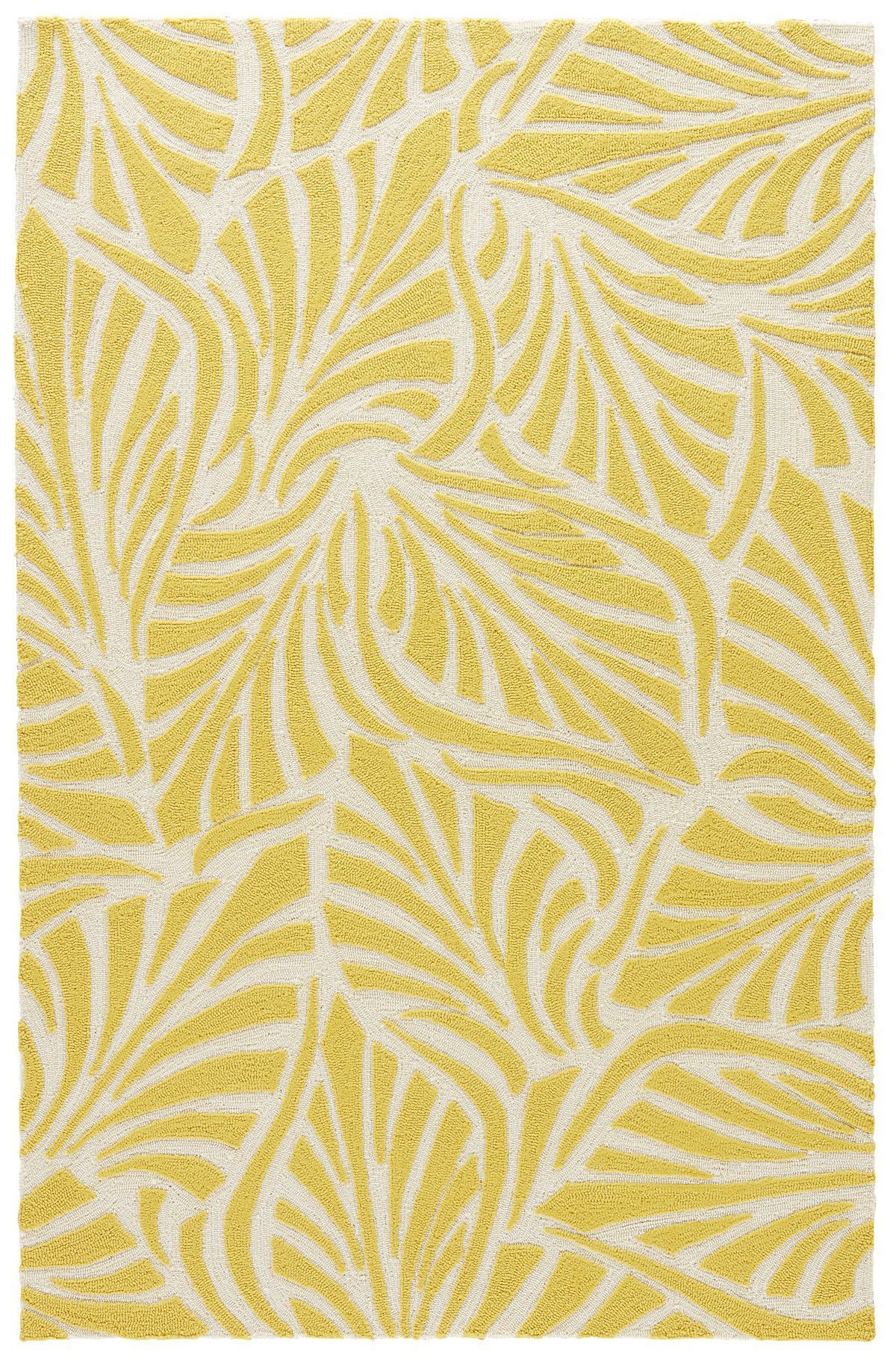 Beautiful Yellow And White Area Rug For Your Floor Decoration
