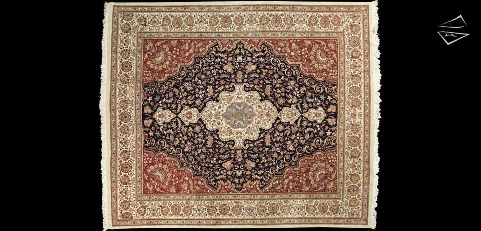 12 14 Persian Cyrus Crown Tabriz Square Rug Square Rugs Rugs Rugs On Carpet