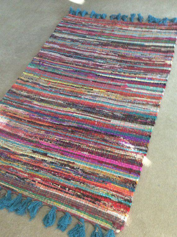 rag rug chindi rug hippie rug colorful rag rug boho rug vegan rug boho chic are rugs on boho chic kitchen rugs id=79419