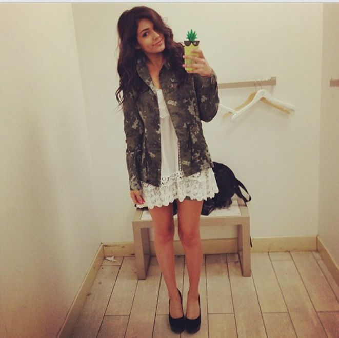 The outfit I wore to the Aeropostale meetup! This is my faveee dress and jacket from the new line