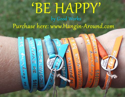 BE Happy bracelets by Good Works! They're just about sold out, get yours TODAY!