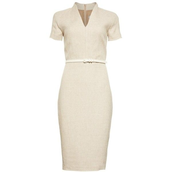 a9e253460d Women s Max Mara Azeglio Belted Linen Sheath Dress ( 895) ❤ liked on  Polyvore featuring dresses