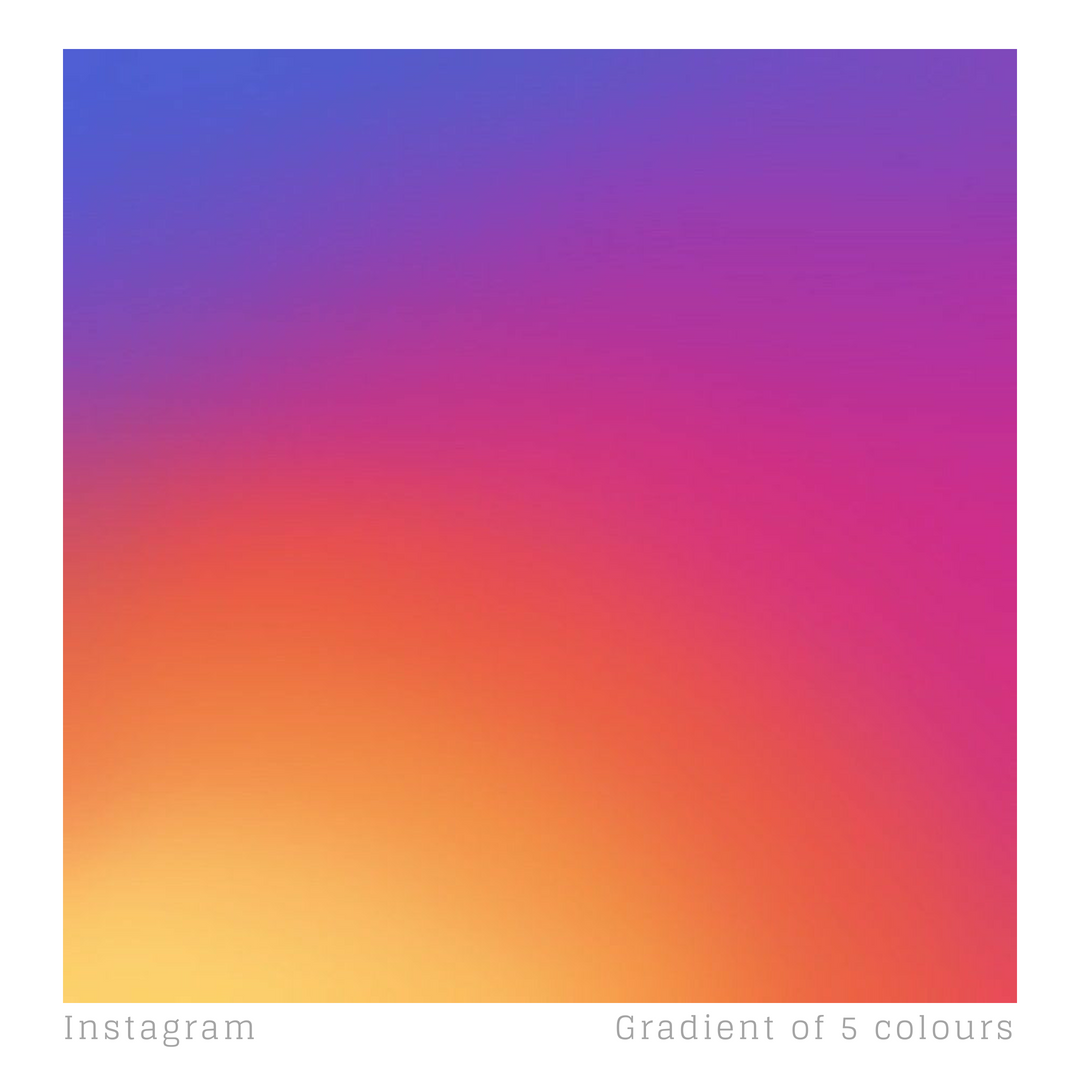 Instagram S Logo Features A Gradient Of 5 Colours Light Yellow Hex