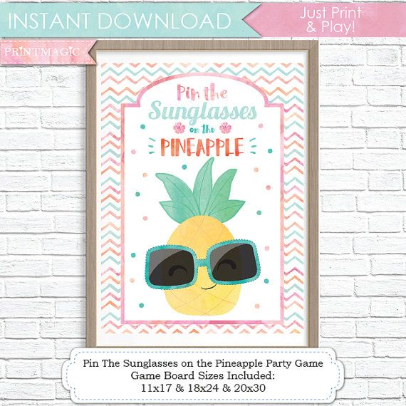 Pin the Sunglasses on the Flamingo Birthday Party Game