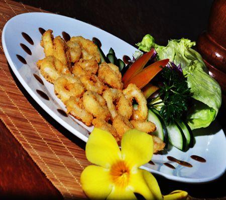 Crunchy, chewy, tasty calamaris.