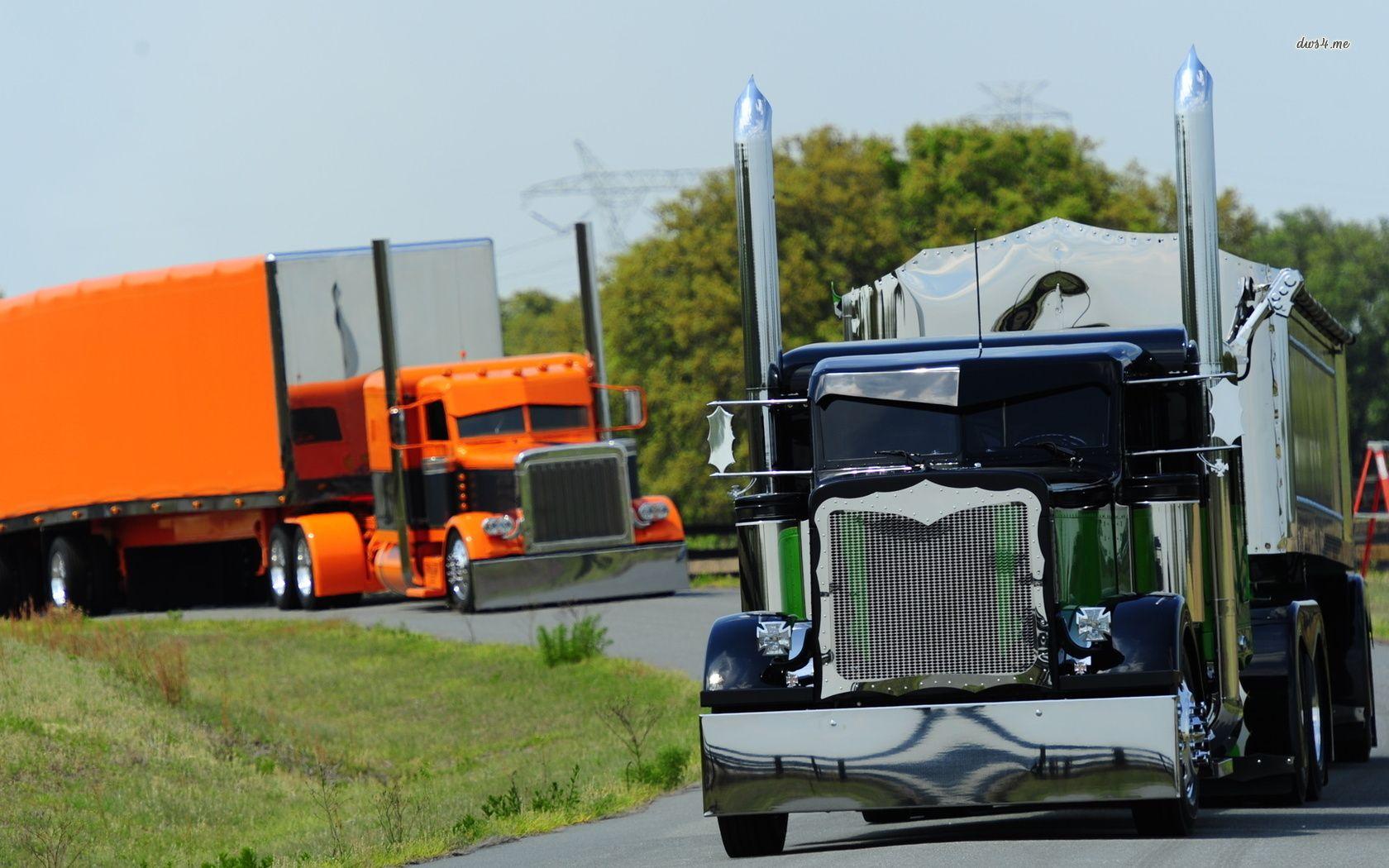 Peterbilt Trucks Hd Wallpaper With Images Peterbilt Trucks